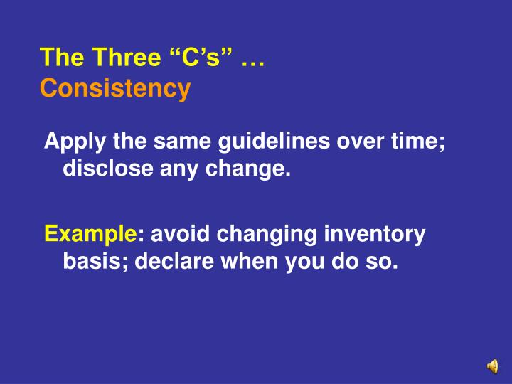 "The Three ""C's"" …"