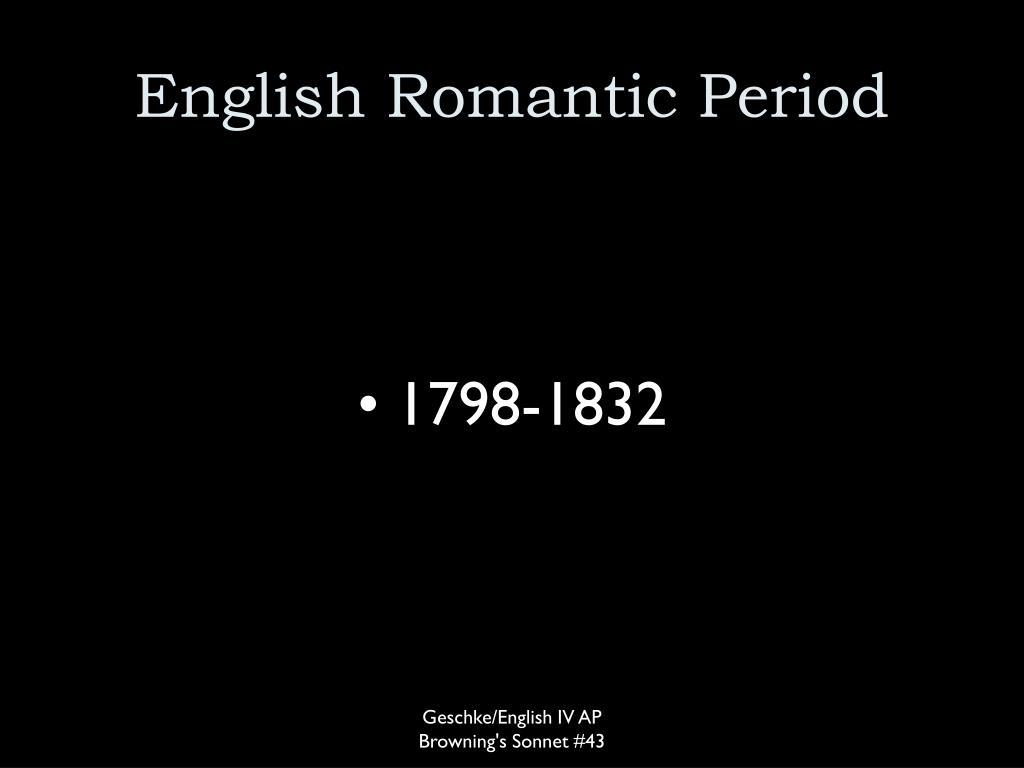 English Romantic Period
