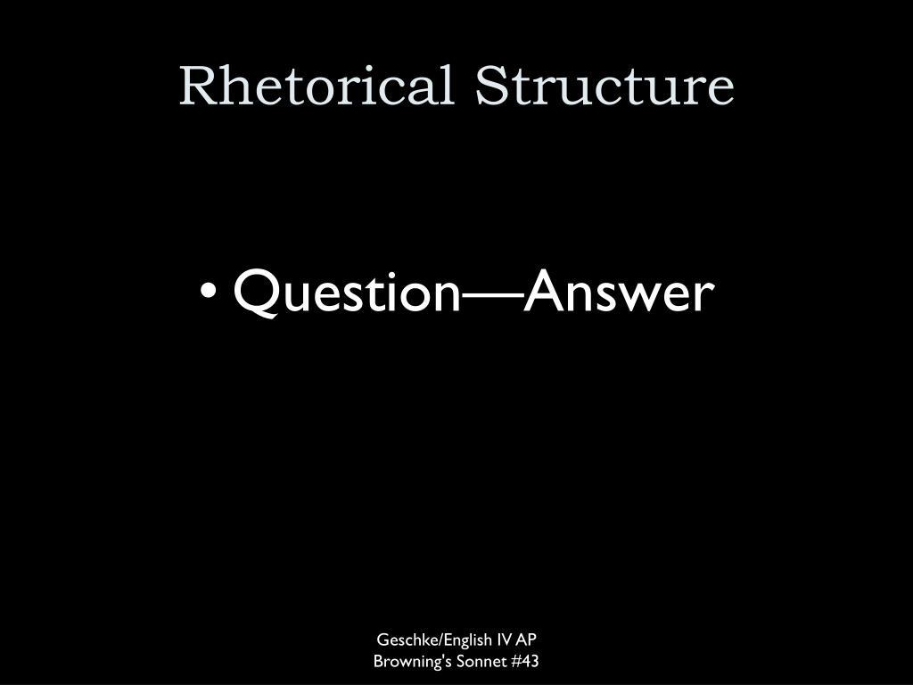 Rhetorical Structure