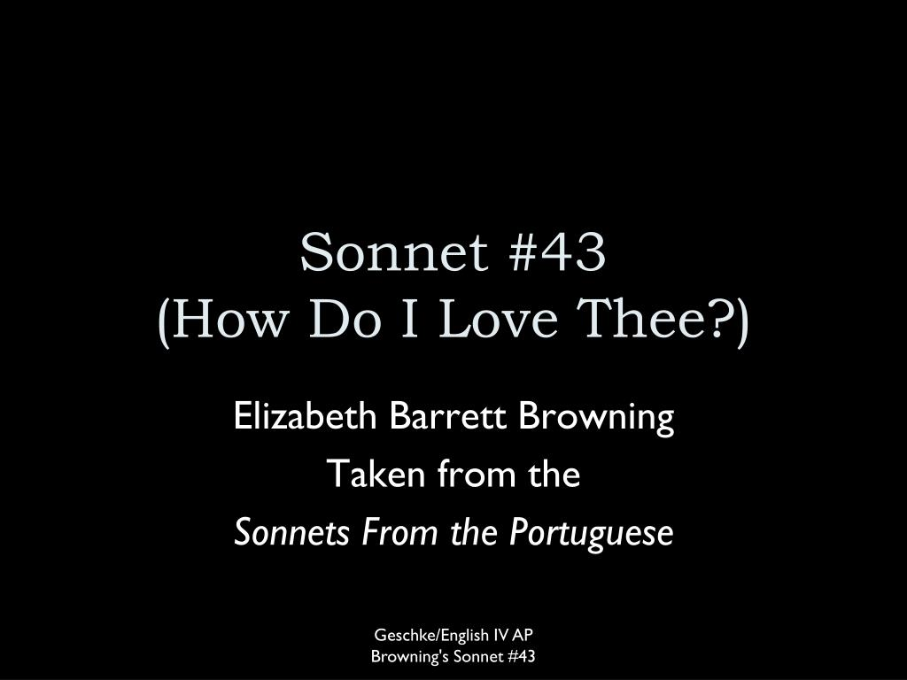 sonnet 43 how do i love thee