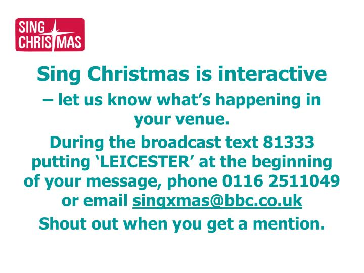 Sing Christmas is interactive