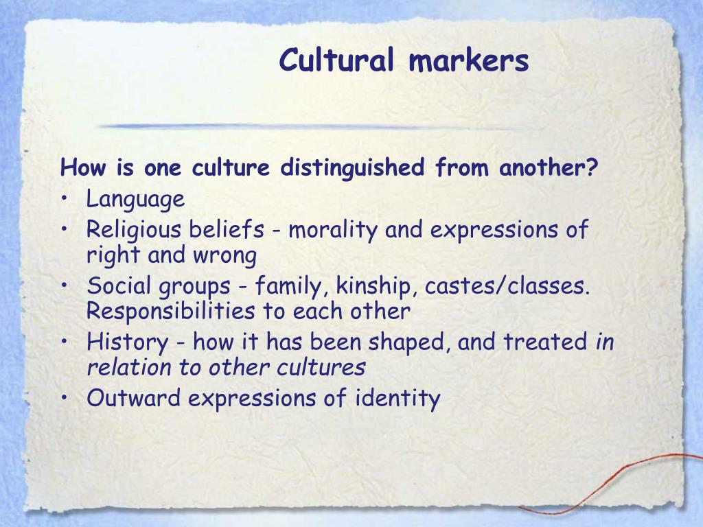 Cultural markers