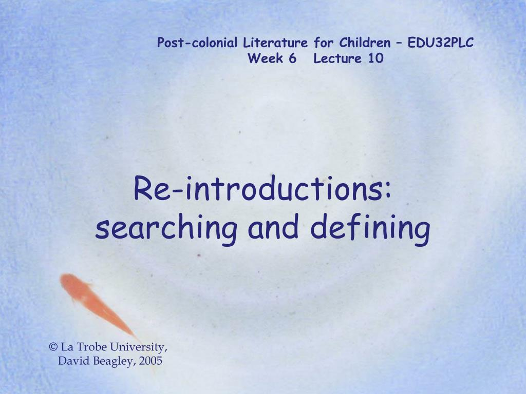 Post-colonial Literature for Children – EDU32PLC