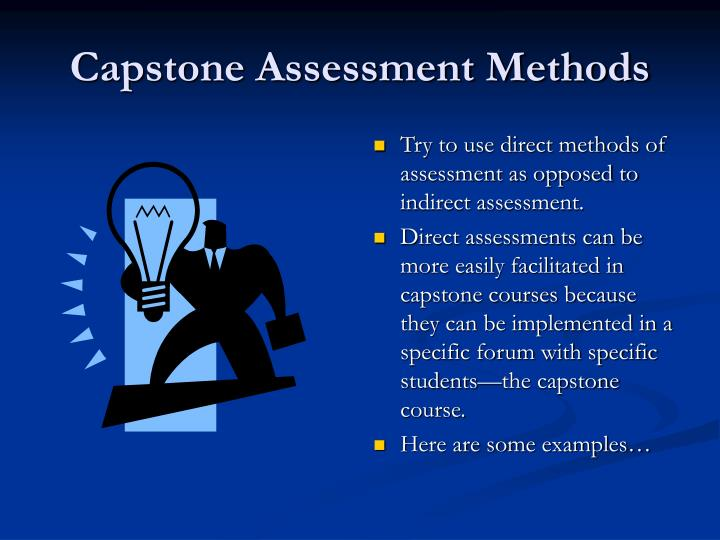 Capstone Assessment Methods