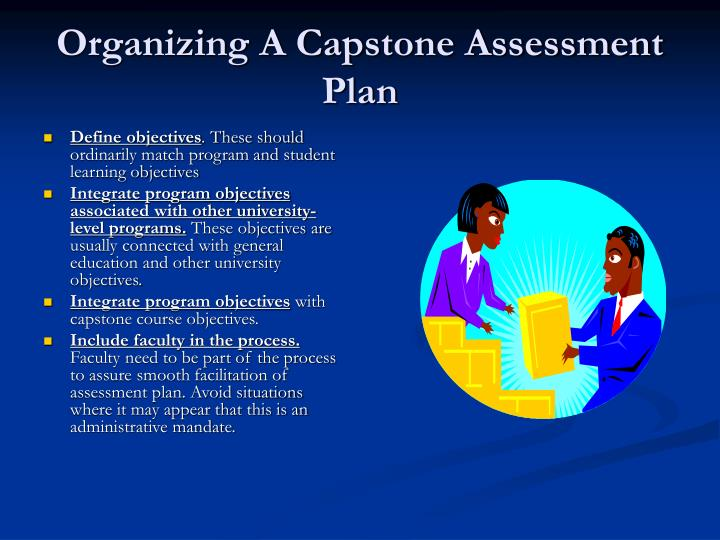 Organizing A Capstone Assessment Plan