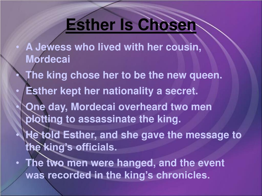Esther Is Chosen