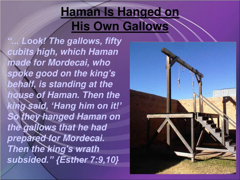 Haman Is Hanged on