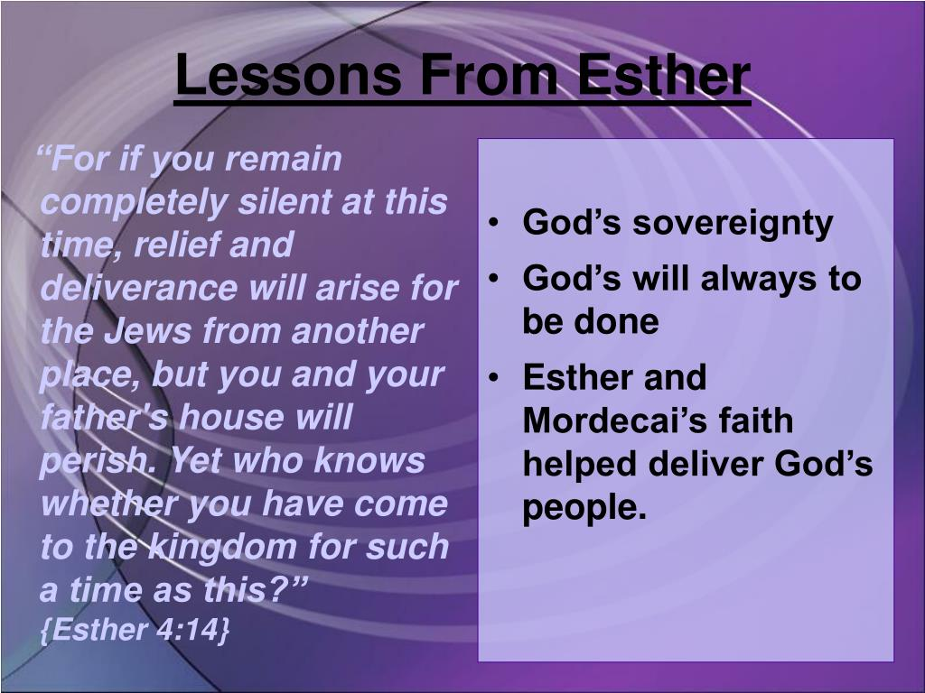 Lessons From Esther