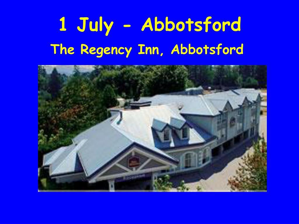 1 July - Abbotsford