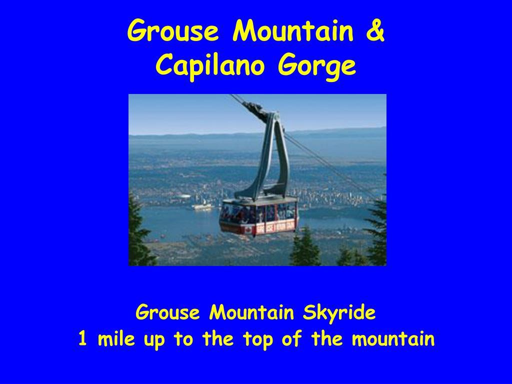 Grouse Mountain &