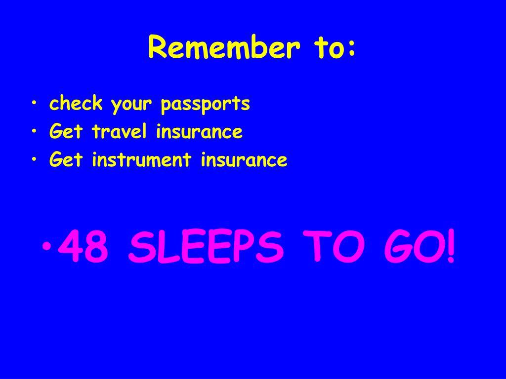 check your passports