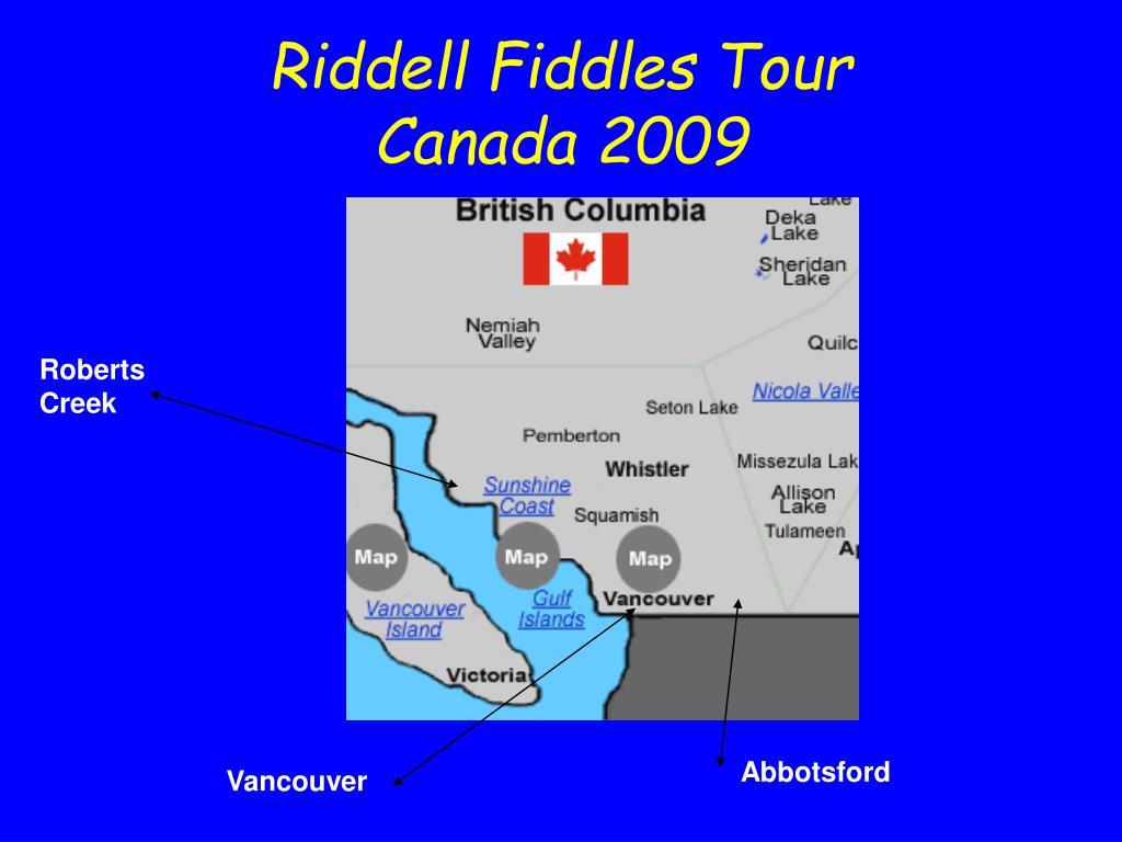 Riddell Fiddles Tour
