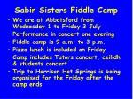 sabir sisters fiddle camp