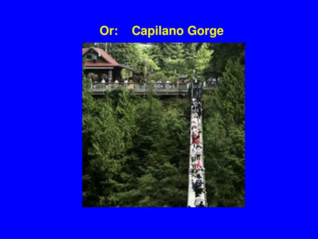 Or:    Capilano Gorge