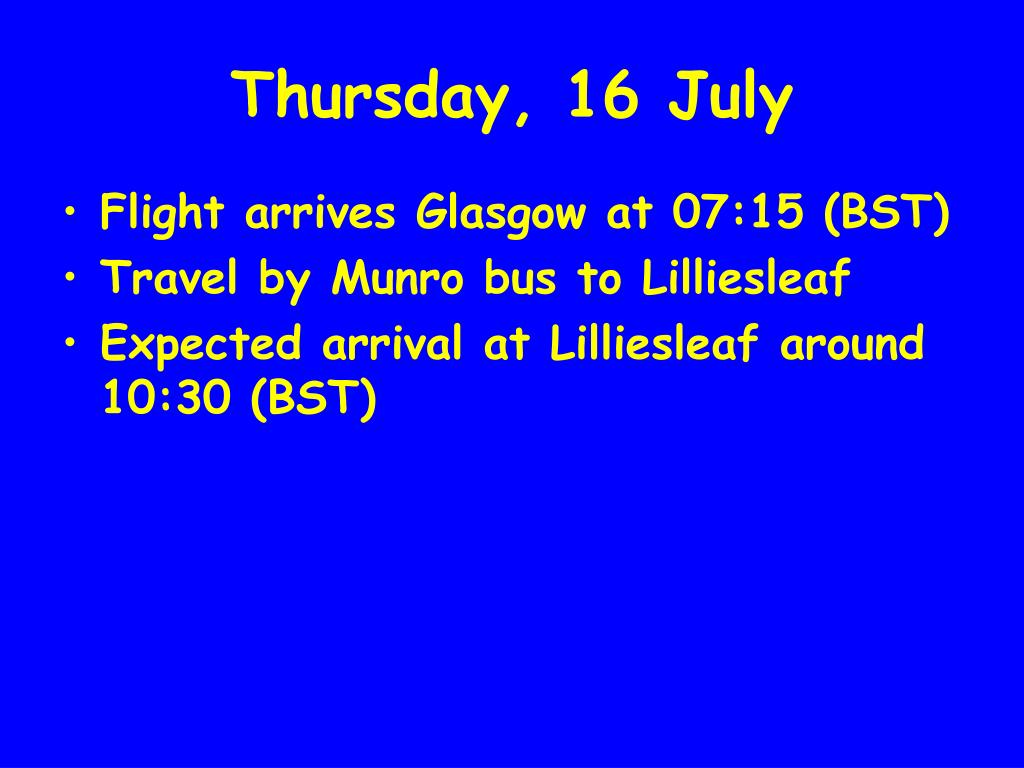 Thursday, 16 July