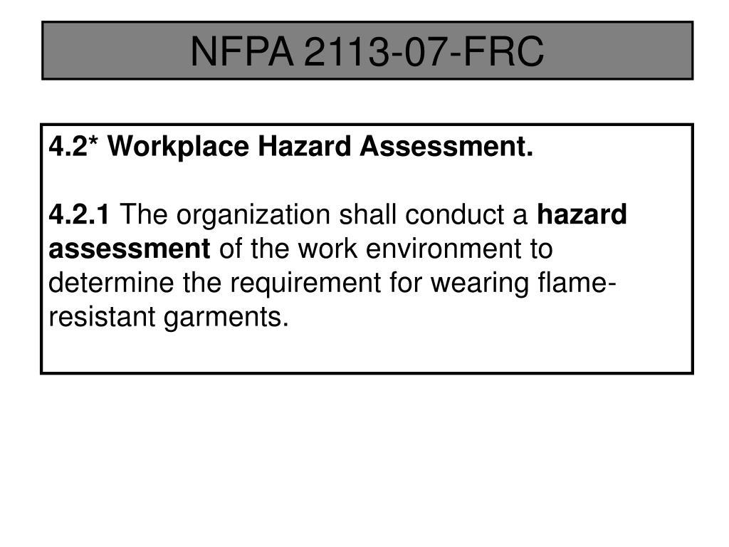 NFPA 2113-07-FRC
