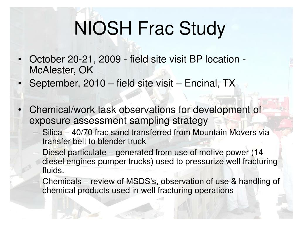 NIOSH Frac Study