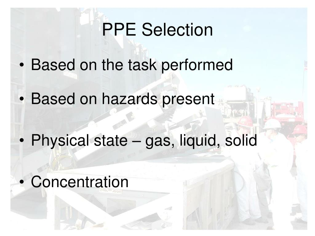 PPE Selection