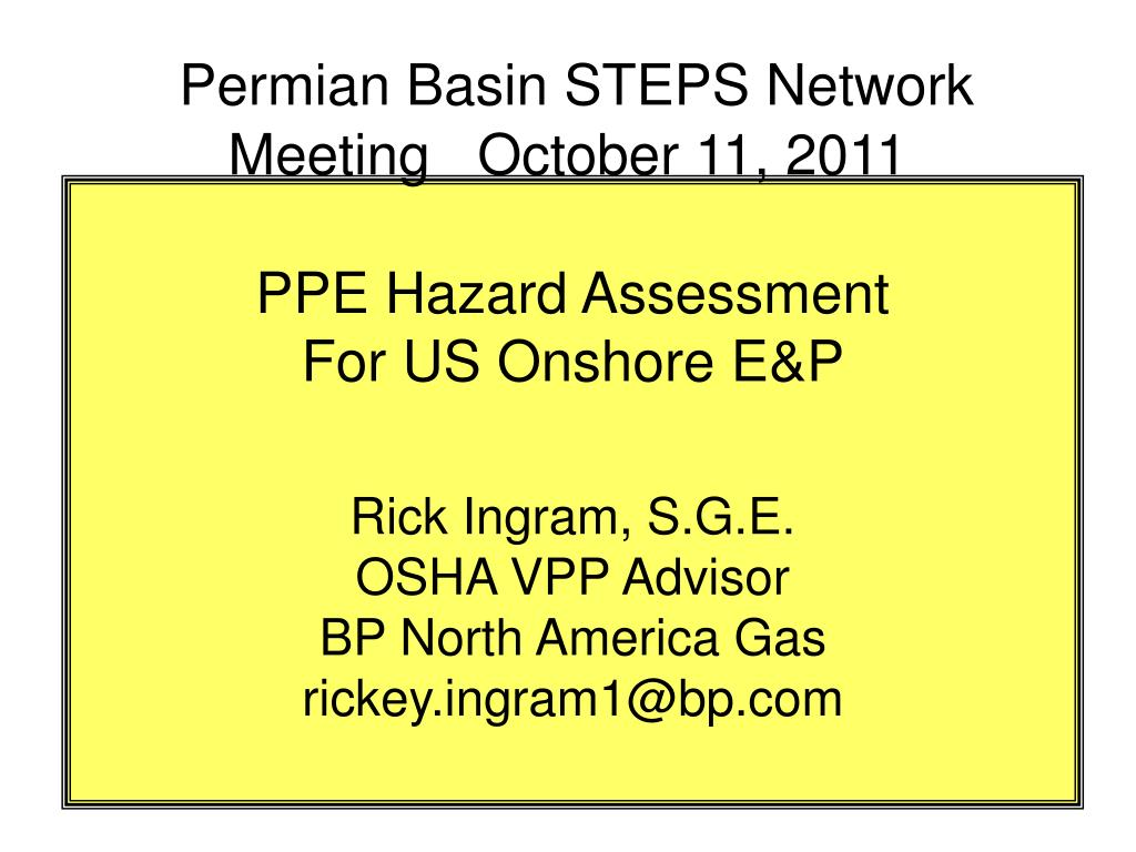 PPE Hazard Assessment