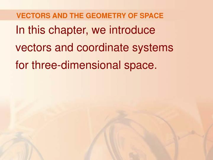 Vectors and the geometry of space l.jpg