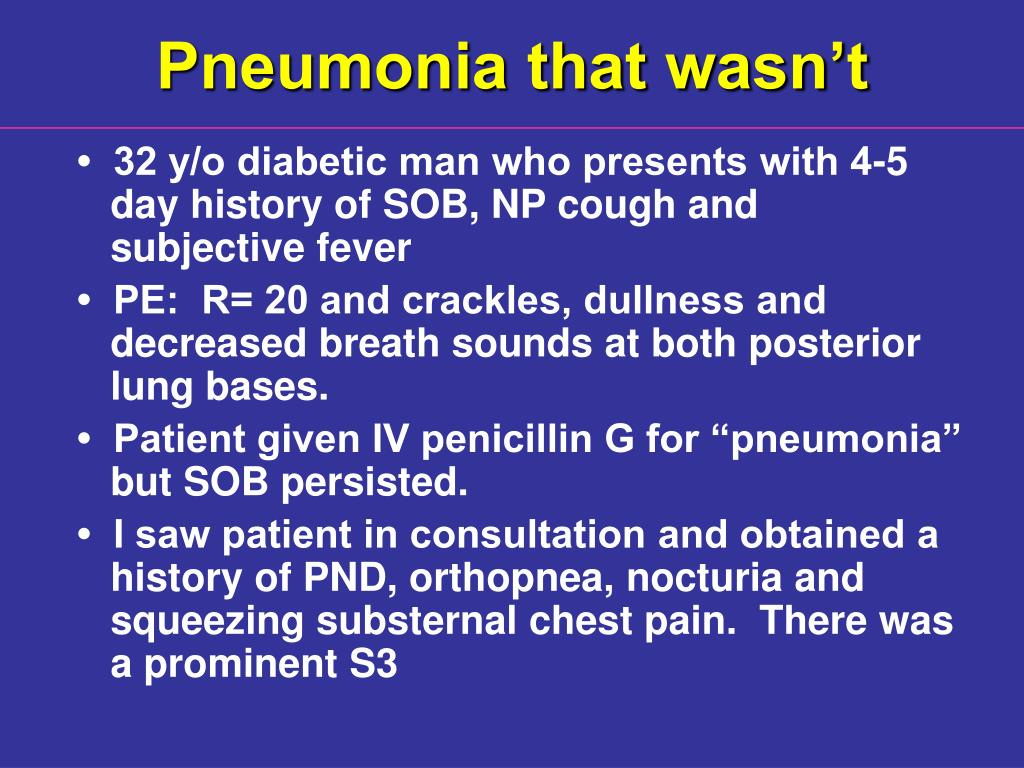 Pneumonia that wasn't