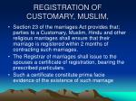 registration of customary muslim