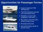 opportunities for passenger ferries