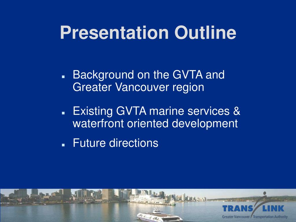 Background on the GVTA and Greater Vancouver region