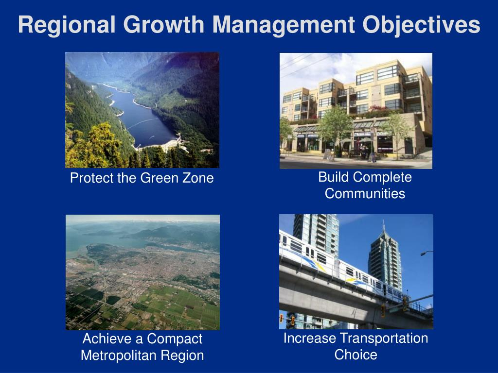 Regional Growth Management Objectives
