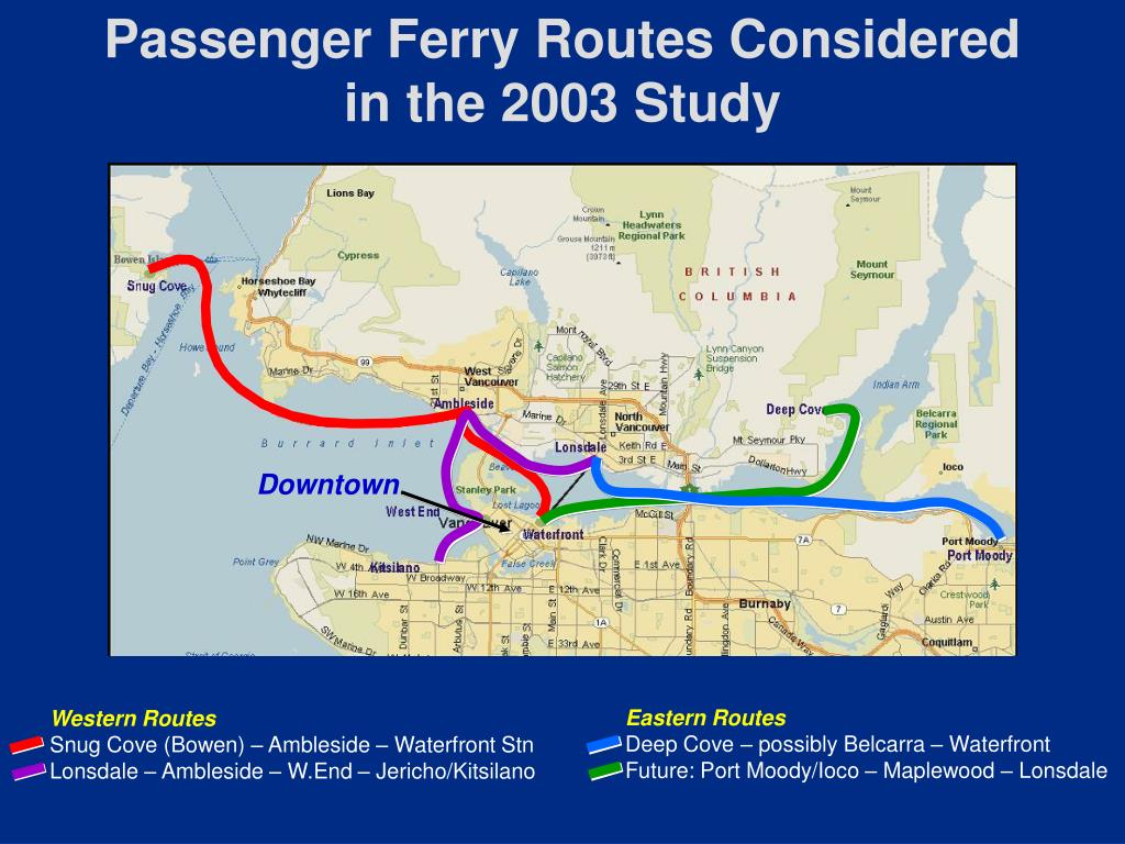 Passenger Ferry Routes Considered