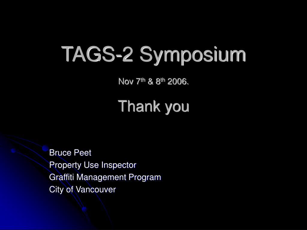 TAGS-2 Symposium