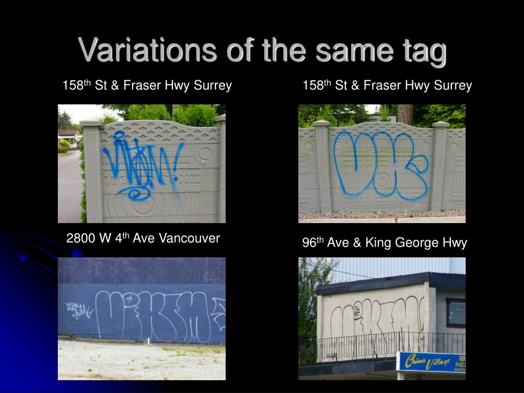 Variations of the same tag