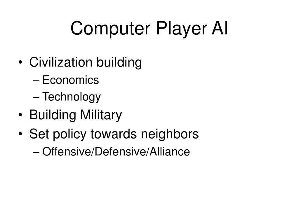 Computer Player AI