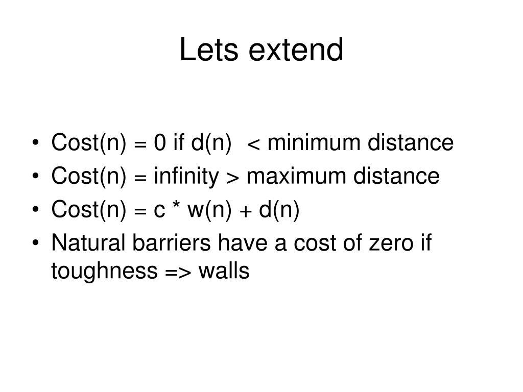 Lets extend