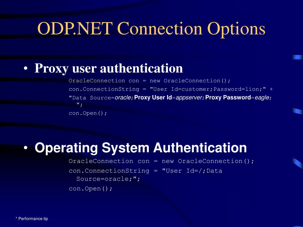 ODP.NET Connection Options