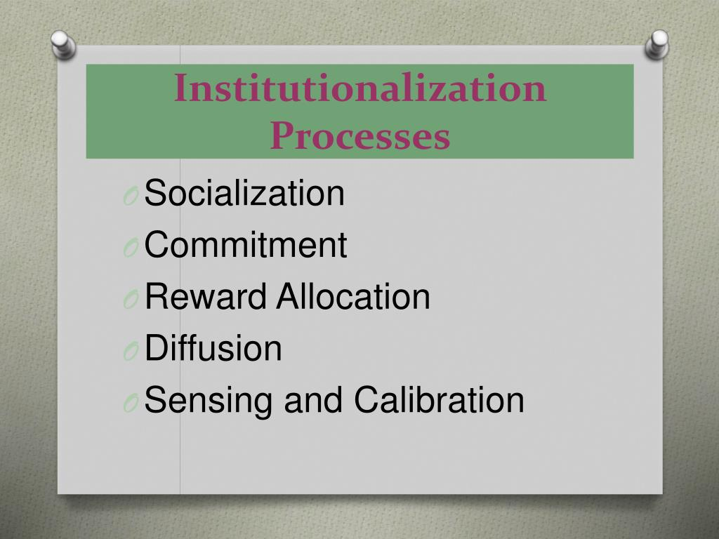 Institutionalization Processes
