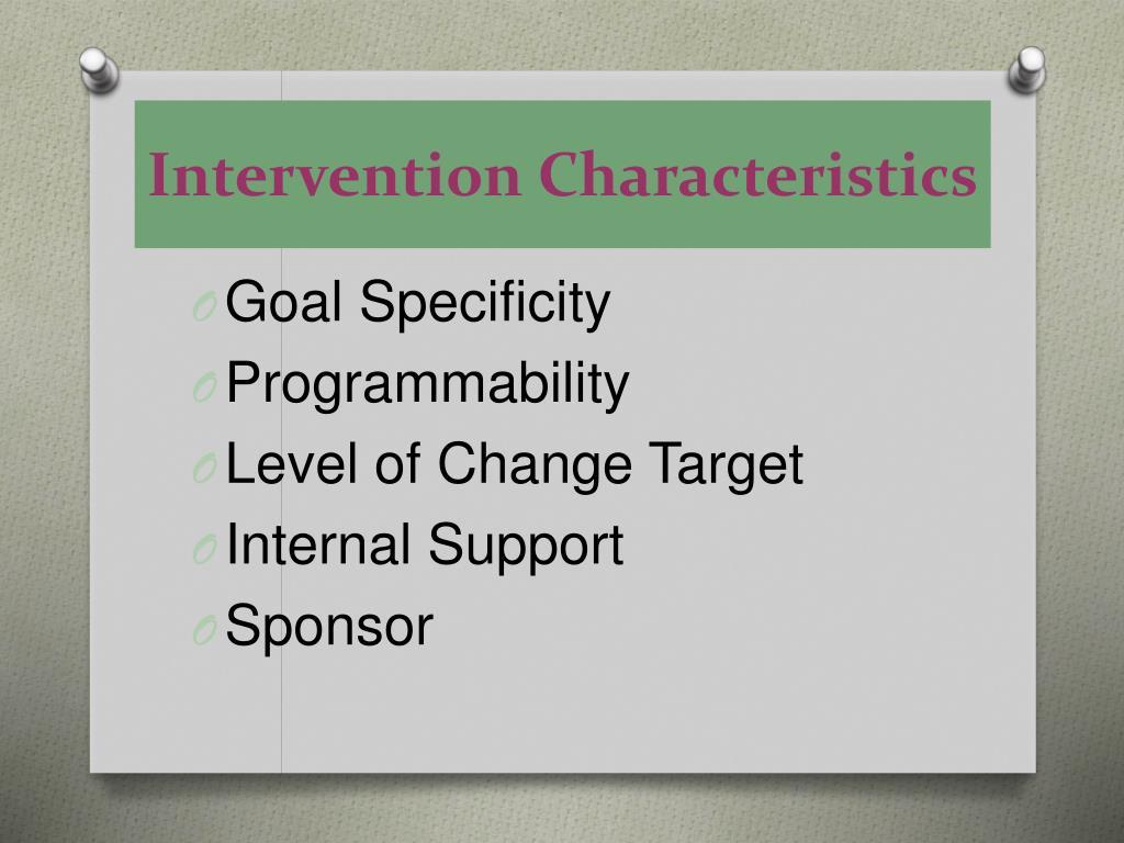 Intervention Characteristics