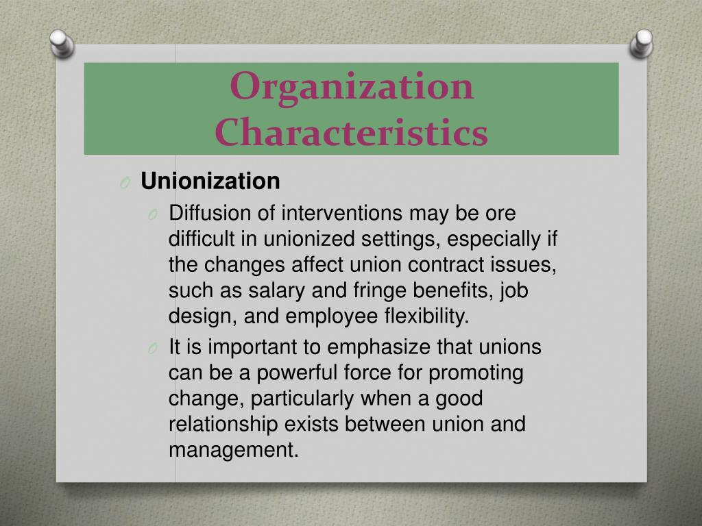 Organization Characteristics