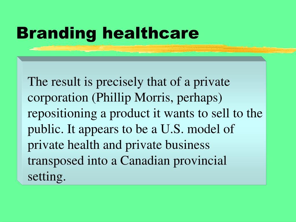Branding healthcare