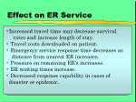 effect on er service