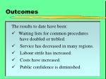outcomes