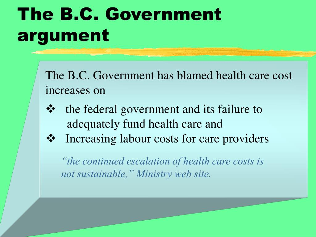 The B.C. Government argument
