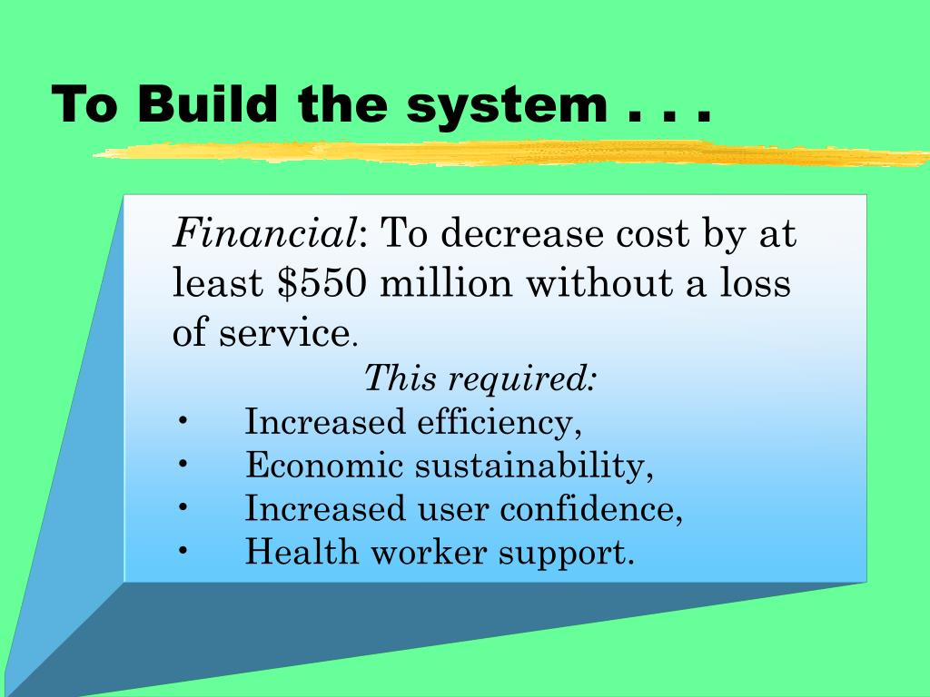 To Build the system . . .