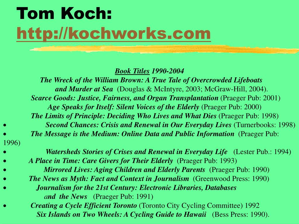 Tom Koch: