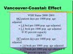 vancouver coastal effect