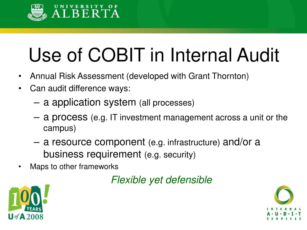 Use of COBIT in Internal Audit