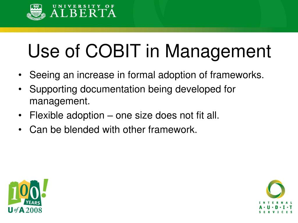 Use of COBIT in Management