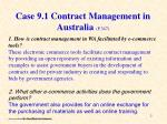 case 9 1 contract management in australia p 347