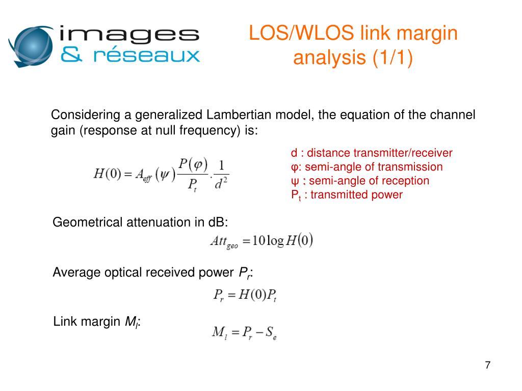 LOS/WLOS link margin analysis (1/1)