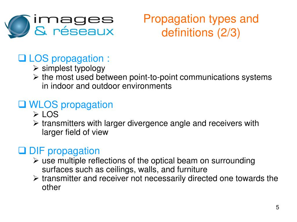 Propagation types and definitions (2/3)